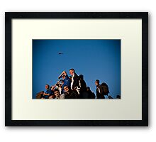 Pyramid of footballers Framed Print