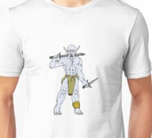 Orc Warrior Sword Dagger Cartoon Unisex T-Shirt