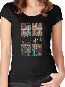 CLUTCH EARTH ROCKER Women's Fitted Scoop T-Shirt