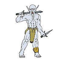 Orc Warrior Sword Dagger Cartoon Photographic Print