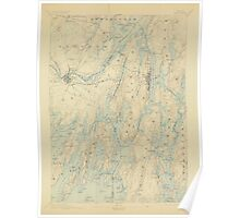 Maine USGS Historical Map Bath 306457 1894 62500 Poster