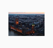 Areal View of London, England and The Houses of Parliament T-Shirt