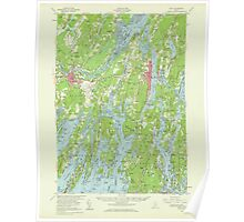 Maine USGS Historical Map Bath 306458 1957 62500 Poster