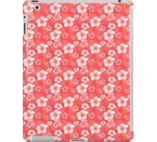 Red Hibiscus Honu Hawaiian Pattern iPad Case/Skin