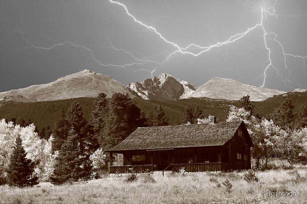 Mountain Lightning Landscape by Bo Insogna