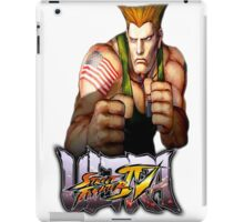 ultra street fighter guile iPad Case/Skin
