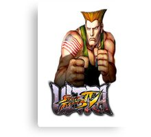 ultra street fighter guile Canvas Print
