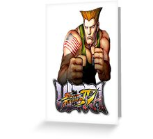 ultra street fighter guile Greeting Card