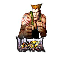ultra street fighter guile Photographic Print