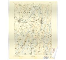 Maine USGS Historical Map Bath 460156 1894 62500 Poster