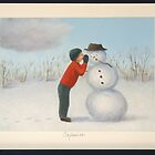 Confession to the snowman by PhyllisGAndrews