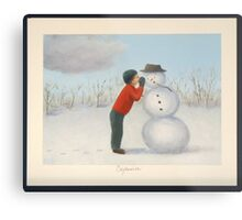Confession to the snowman Metal Print