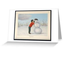 Confession to the snowman Greeting Card