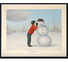 Confession to the snowman Photographic Print