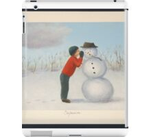 Confession to the snowman iPad Case/Skin