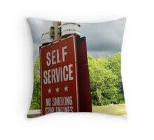 Self Service Throw Pillow