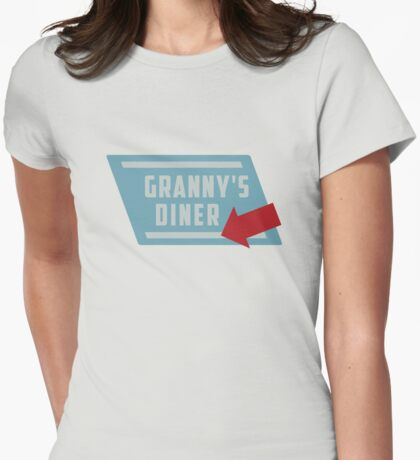 Granny's Diner Womens Fitted T-Shirt