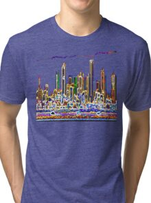 Glowing City Tri-blend T-Shirt