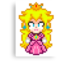 Princess Peach - Smash Bros Mini Pixel Canvas Print