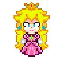 Princess Peach - Smash Bros Mini Pixel Photographic Print
