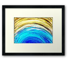Colorful Abstract Painting Original Art Titled: Meteor Shower 2 Framed Print