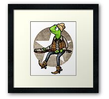 nothing haults this frog Framed Print