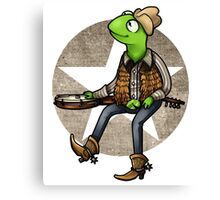 nothing haults this frog Canvas Print