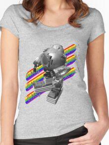 OMG ROBO Women's Fitted Scoop T-Shirt