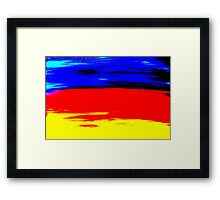 Bright Colorful Abstract Art Titled: More Color Framed Print