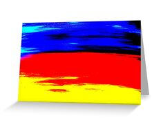 Bright Colorful Abstract Art Titled: More Color Greeting Card