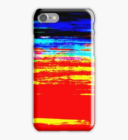 Colorful Abstract Painting Original Art Titled: Stray Color iPhone Case/Skin