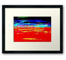 Colorful Abstract Painting Original Art Titled: Stray Color Framed Print
