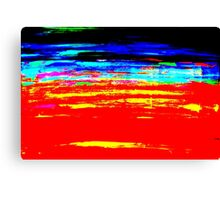 Colorful Abstract Painting Original Art Titled: Stray Color Canvas Print