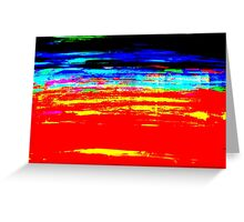 Colorful Abstract Painting Original Art Titled: Stray Color Greeting Card