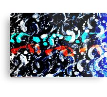 Colorful Abstract Painting Original Art Titled: Party Naked Metal Print