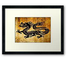 Vintage Dragon Framed Print
