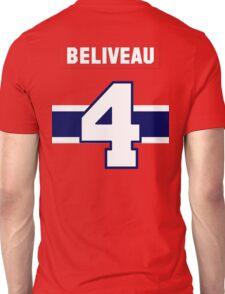 Jean Beliveau #4 - red jersey Unisex T-Shirt