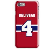 Jean Beliveau #4 - red jersey iPhone Case/Skin