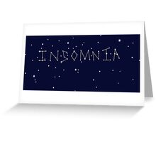 Insomnia Constellation Stars Greeting Card