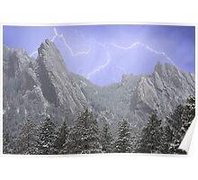 Flatiron Lightning Poster