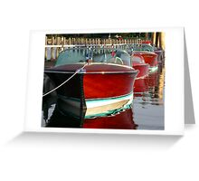 Classic Wooden Boats Greeting Card