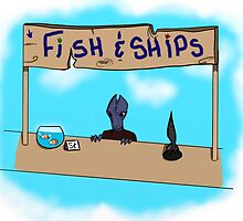 Fish and Ships Stand! by McKenzie McQuirk