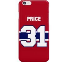 Carey Price #31 - red jersey iPhone Case/Skin