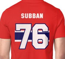 P.K. Subban #76 - red jersey Unisex T-Shirt