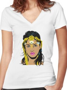 M.I.A. Women's Fitted V-Neck T-Shirt