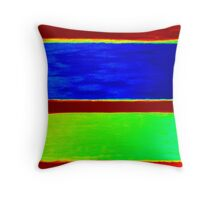 Colorful Abstract Painting Original Art Titled: Sun & Moon Throw Pillow