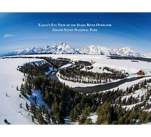 Eagle's Eye View - Snake River Overlook, Grand Teton National Park Photographic Print