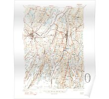 Maine USGS Historical Map Bath 460160 1945 62500 Poster