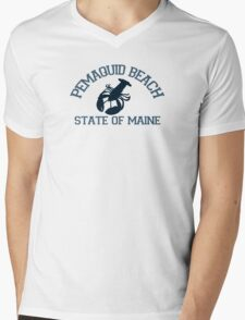 Pemaquid Beach. Mens V-Neck T-Shirt