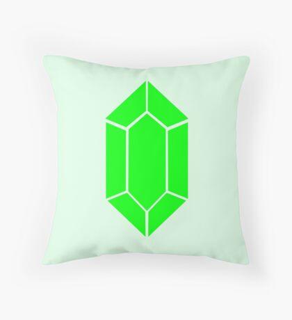Green Rupee Zelda Coin  Throw Pillow